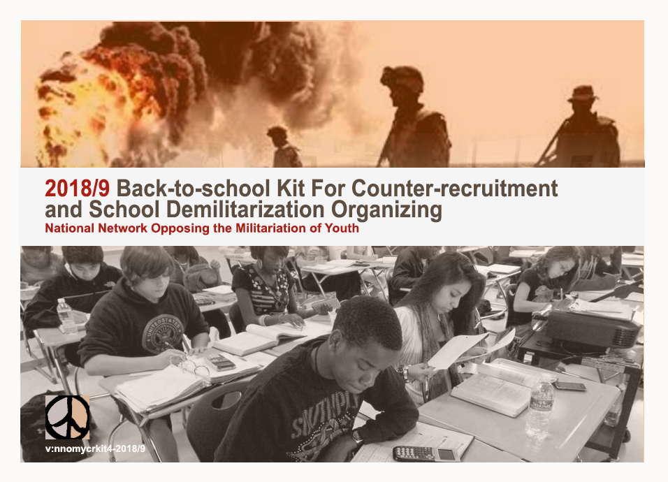 2018/9 Back-to-school Kit for Counter-recruitment and School Demilitarization Organizing