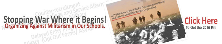 Get the 2013 Counter-recruitment kit now! Click Here