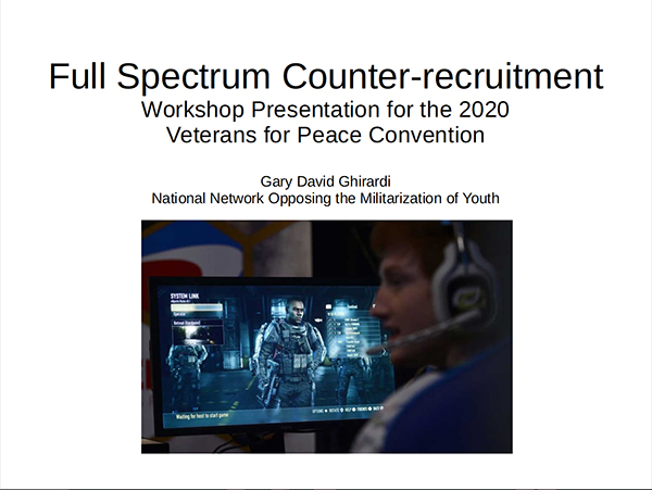 Full Spectrum Counter-Recruitment